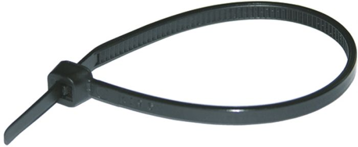 Kaablisidemed Haupa 425 x 8,8 mm, must, 50 tk