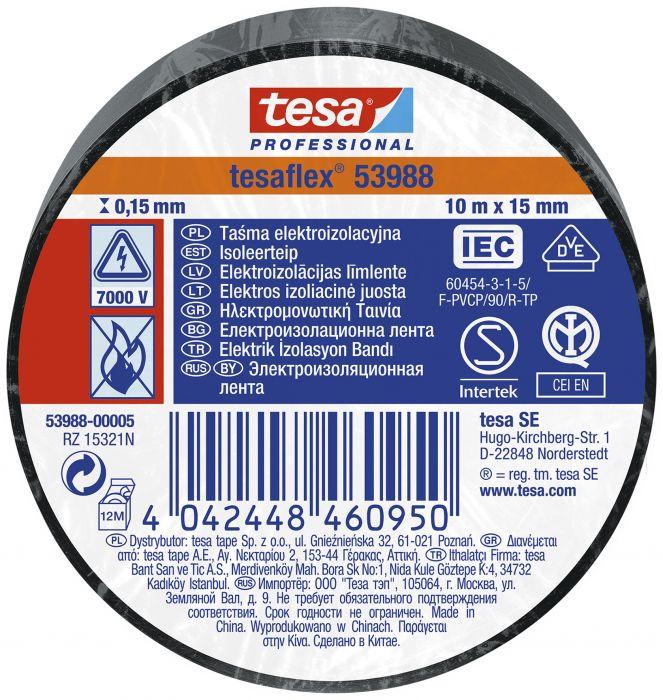 PVC isoleerteip 10 m x 15 mm , must