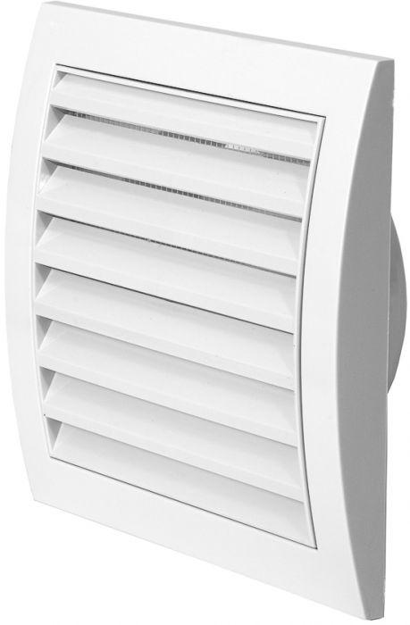 Ventilatsioonirest Europlast valge 150 x 150 mm ⌀ 100 mm