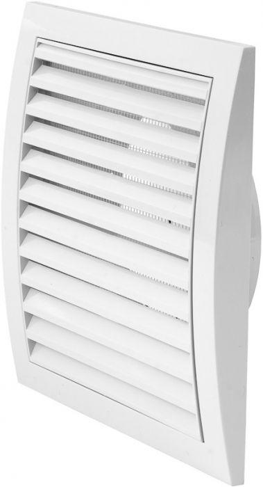 Ventilatsioonirest Europlast valge 190 x 190 mm ⌀ 125 mm