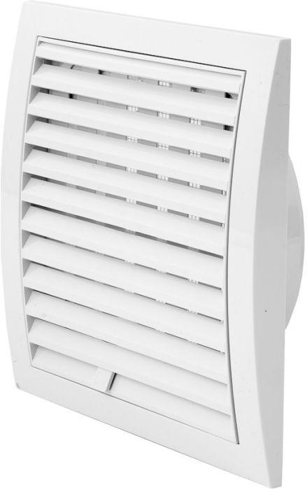 Ventilatsioonirest Europlast valge 190 x 190 mm ⌀ 125 mm reguleeritav