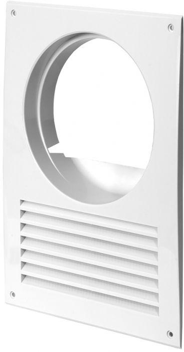 Ventilatsiooniava kate Europlast valge ⌀ 125 mm