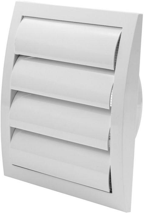 Ventilatsioonirest Europlast valge 190 x 190 mm labadega