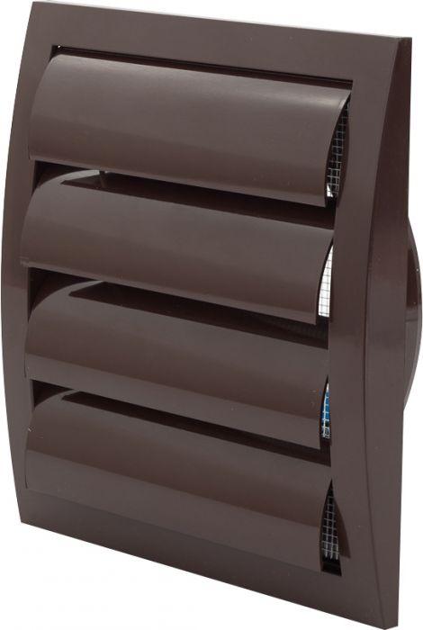 Ventilatsioonirest Europlast pruun 190 x 190 mm labadega