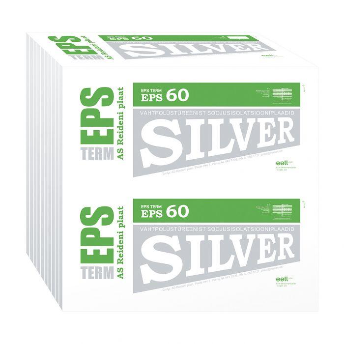 Soojustusplaat EPS 60 Silver, 150 mm