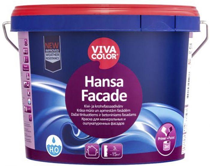 Kivi- ja krohvfassaadivärv Vivacolor Hansa Facade 2,7 l
