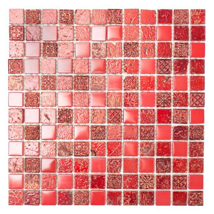 Mosaiik punane 30,5 x 32,5 cm