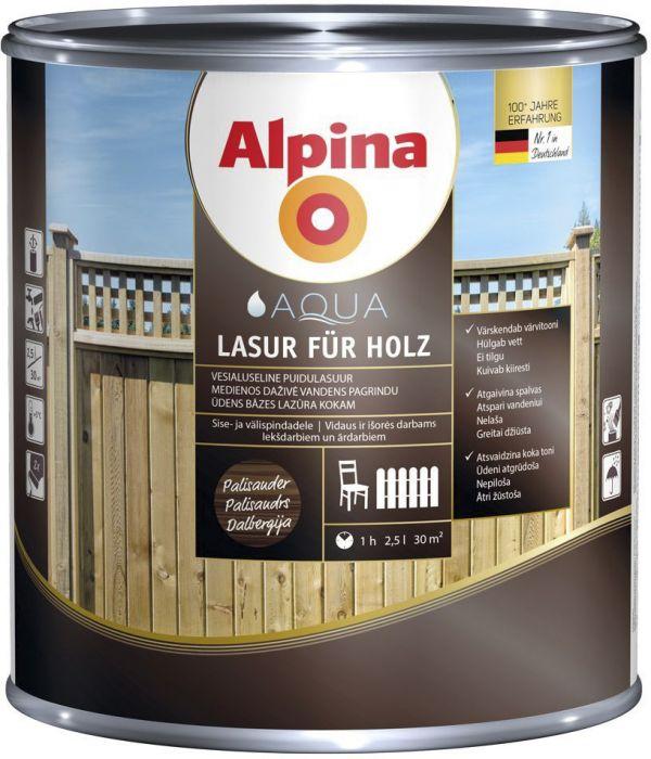 Puidulasuur Alpina 0,75 l palisander