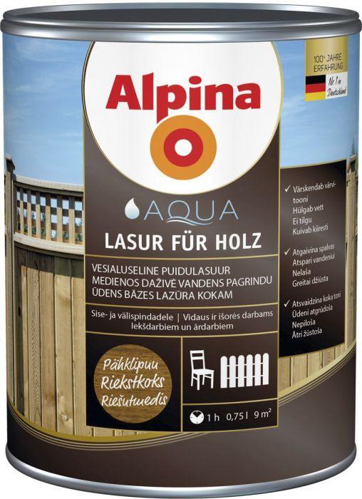 Puidulasuur Alpina 0,75 l pähkel