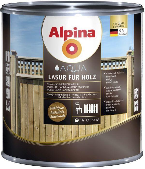Puidulasuur Alpina 2,5 l värvitu