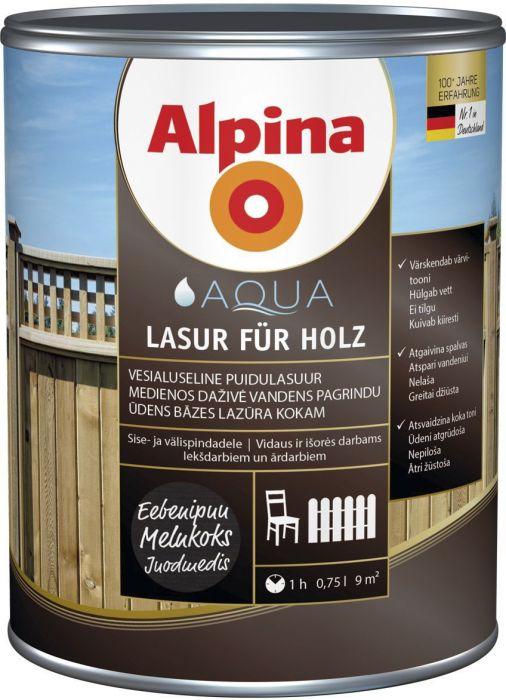 Puidulasuur Alpina 0,75 l eebenipuu