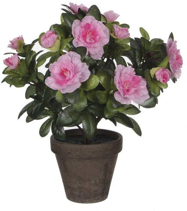 Kunstlill aasalea potis27 cm, roosa