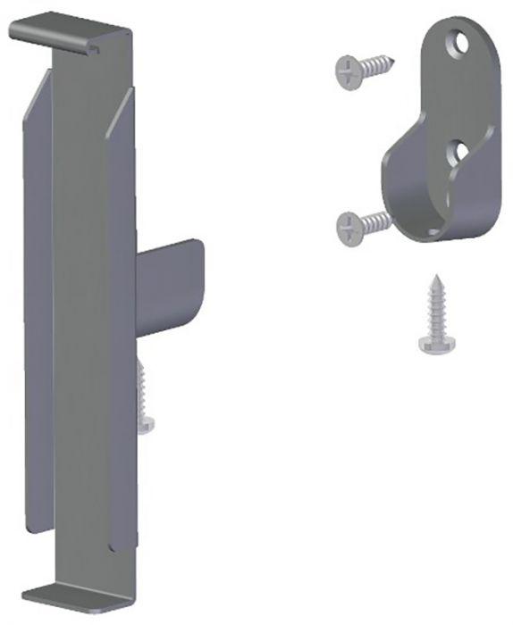Riidepuu toru kandur Lundbergs hõbedane 2 tk