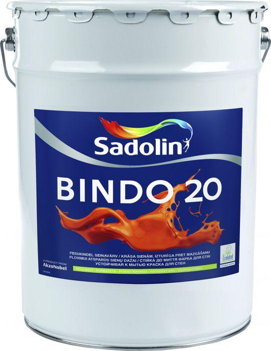 Seinavärv Bindo 20 BW, poolmatt valge 20 l