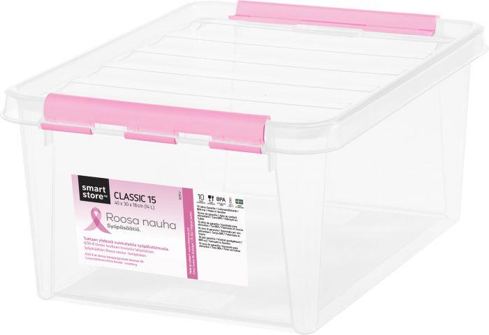 Säilituskast SmartStore roosa lint 40 x 30 x 18 cm