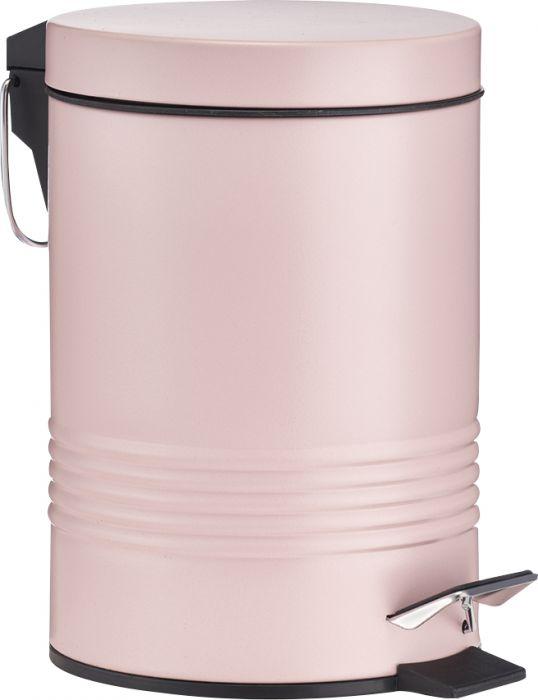 Prügikast pedaaliga 3 l, roosa