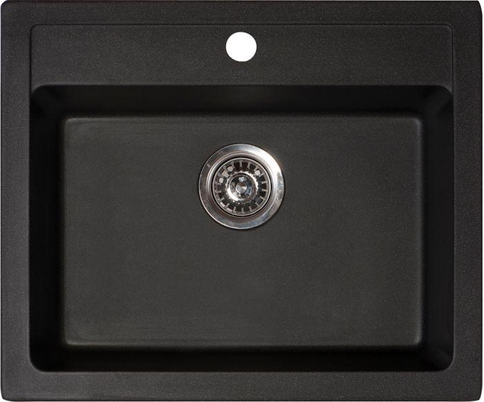 Köögivalamu Aqualine X-Granit Quadro 60 x 50 cm, must