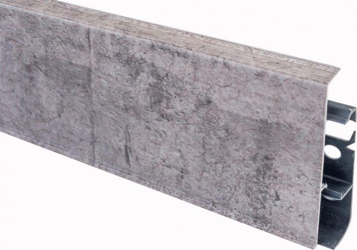 Põrandaliist PVC hall tamm 22 x 75 x 2500 mm