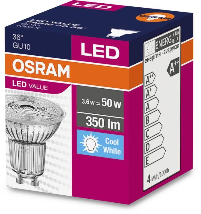 LED-lamp Osram 3,6 W, GU10