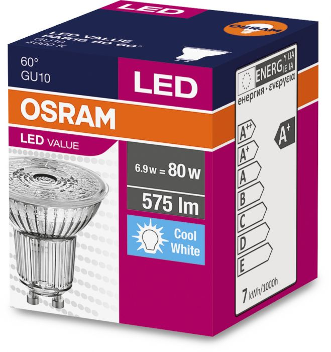 LED-lamp Osram 6,9 W, GU10