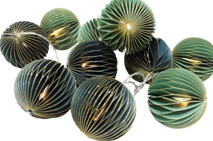 Valgussari Decorative paberist 10-osaline, roheline