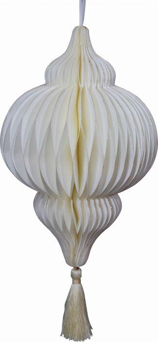 Paberdekoratsioon Teemant Ø 40 cm, valge