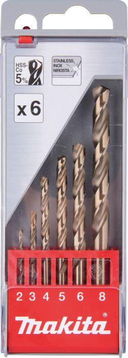 Metallipuuride komplekt 6-osaline Makita D-57168