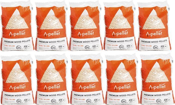 10 kotti puidupelleteid 15 kg