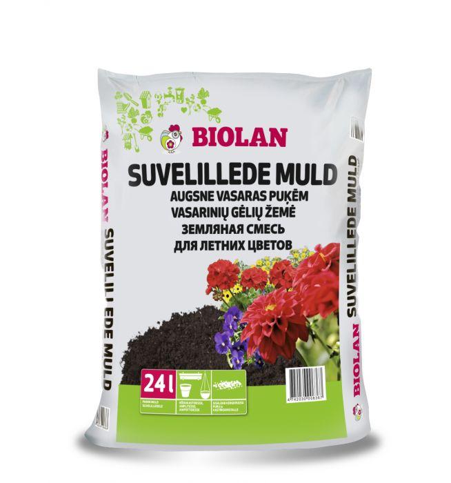 Suvelillede muld Biolan 24 l