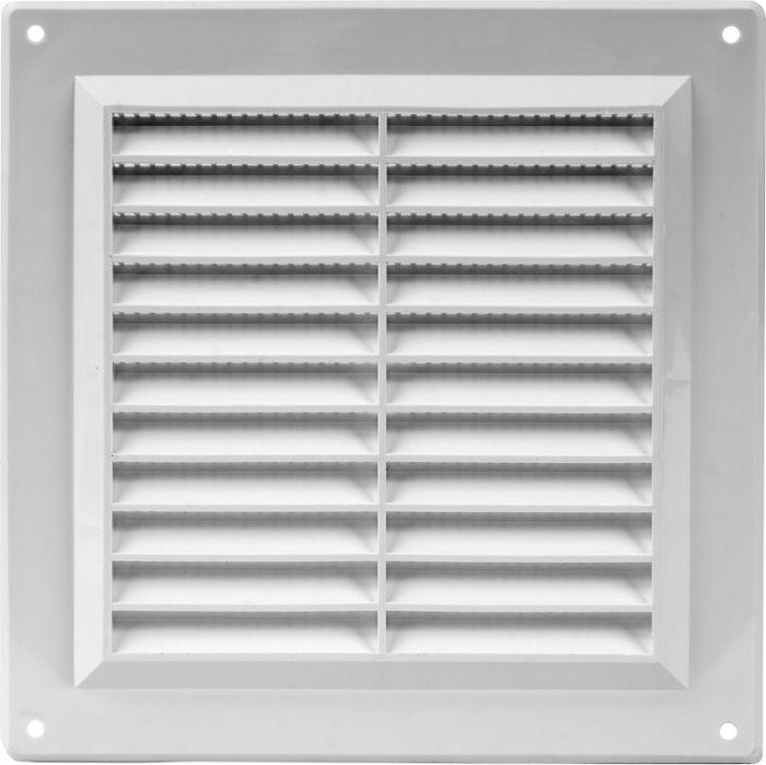 Ventilatsioonirest valge plastik 15 x 15 cm