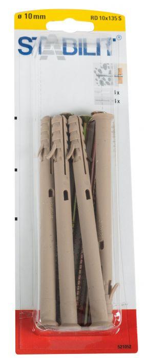 Kruvide ja tüüblite komplekt 10 x 135 mm
