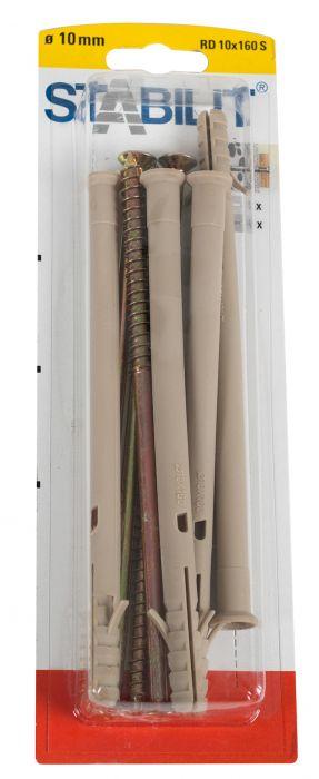 Kruvide ja tüüblite komplekt 10 x 160 mm