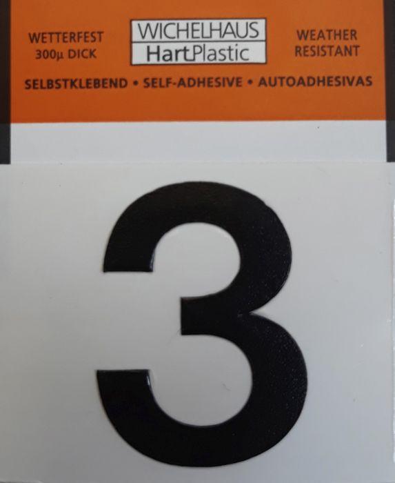 Number Wichelhaus HartPlastic 3 30 mm