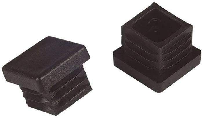 Põrandakaitse Stabilit 20 x 20 mm, must 4 tk