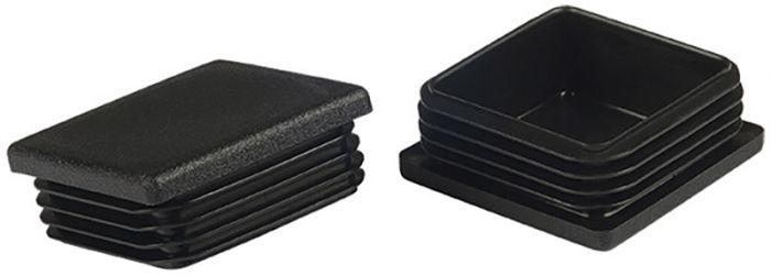 Põrandakaitse Stabilit 40 x 40 mm, must 2 tk