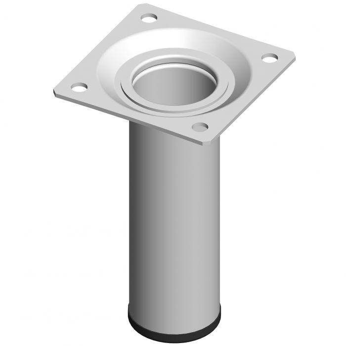 Mööblijalg Element System ümar valge 100 mm ⌀ 30 mm