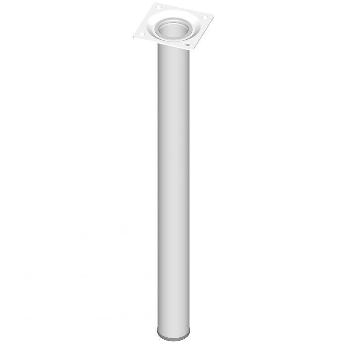 Mööblijalg Element System ümar valge 400 mm ⌀ 30 mm