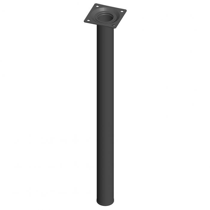 Mööblijalg Element System ümar must 500 mm ⌀ 30 mm