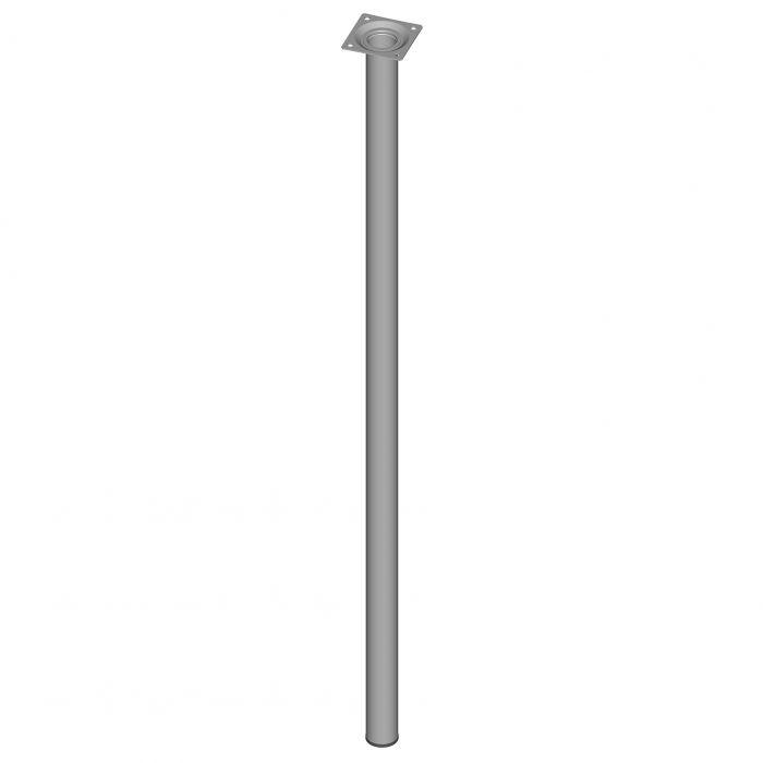 Mööblijalg Element System ümar valge 800 mm ⌀ 30 mm