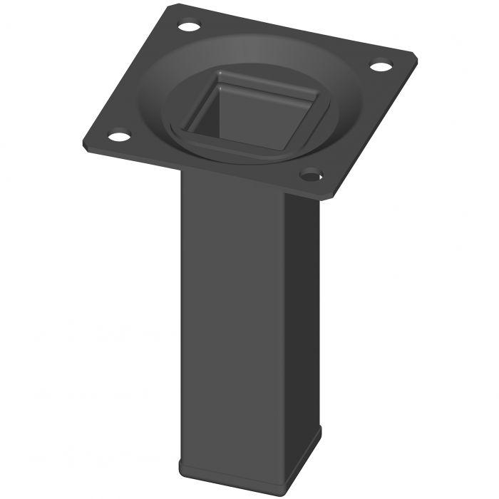 Mööblijalg Element System kandiline must 100 mm 25 x 25 mm