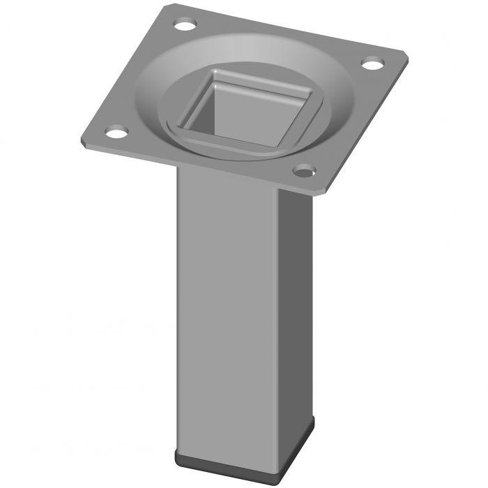 Mööblijalg Element System valge alu 100 mm 25 x 25 mm