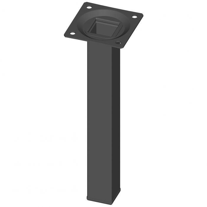 Mööblijalg Element System kandiline must 200 mm 25 x 25 mm