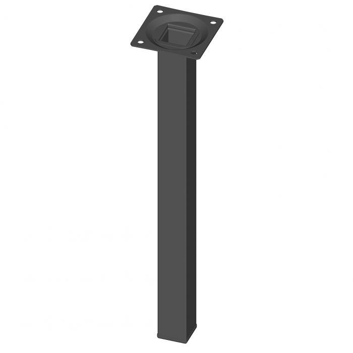 Mööblijalg Element System kandiline must 300 mm 25 x 25 mm