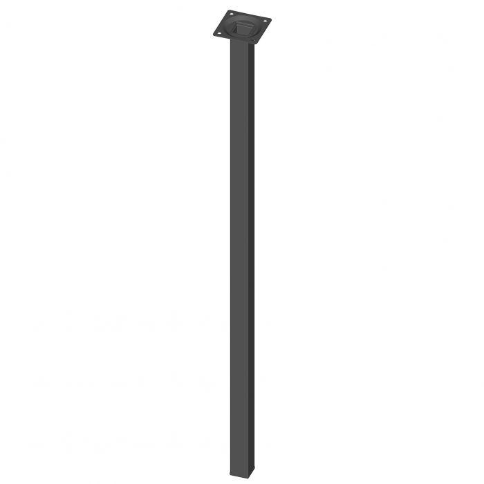 Mööblijalg Element System kandiline must 700 mm 25 x 25 mm