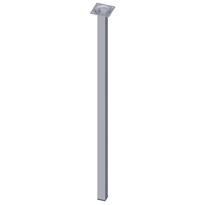 Mööblijalg Element System kandiline kroom 700 mm 25 x 25 mm