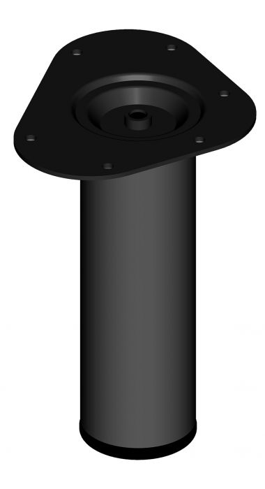 Mööblijalg Element System ümar must 200 mm ⌀ 60 mm
