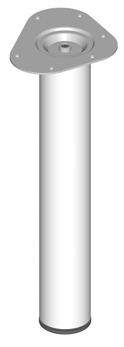 Mööblijalg Element System ümar valge 400 mm ⌀ 60 mm