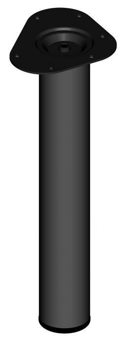 Mööblijalg Element System ümar must 400 mm ⌀ 60 mm