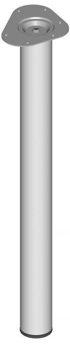 Mööblijalg Element System ümar valge 700 mm ⌀ 60 mm