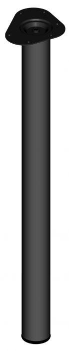 Mööblijalg Element System ümar must 800 mm ⌀ 60 mm